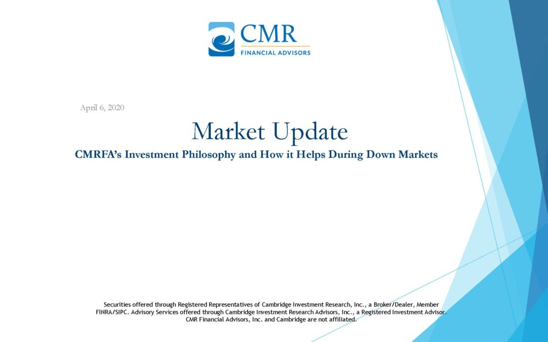 CMRFA'S Investment Philosophy and How it Helps During Down Markets
